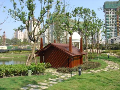 湖边小筑 - 武汉木屋|木结构|防腐木屋设计|木屋造价